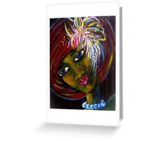 Girl Looking Out Greeting Card