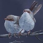 Fairy Wrens by Louise De Masi