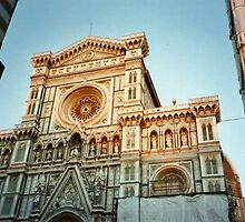 Florence, the Cathedral at sunset by presbi