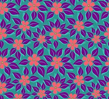 tropical floral pattern by SIR13