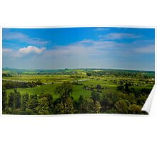 The view from the Keep, Arundel Castle, Sussex, UK Poster