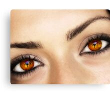 a fire in her eyes Canvas Print