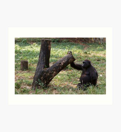 Gorilla Tree Art Print