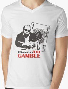 Born to Gamble Mens V-Neck T-Shirt
