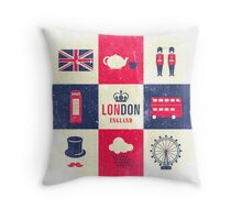 City Of London United Kingdom England Distressed Throw Pillow