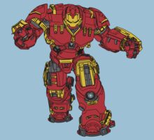 Tony Stark's Hulkbuster Suit Armour , Black outline with colour fill Kids Clothes