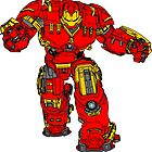 Tony Stark's Hulkbuster Suit Armour , Black outline with colour fill by Adamasage
