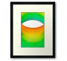 Abstract Rainbow Eye Framed Print