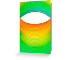 Abstract Rainbow Eye Greeting Card