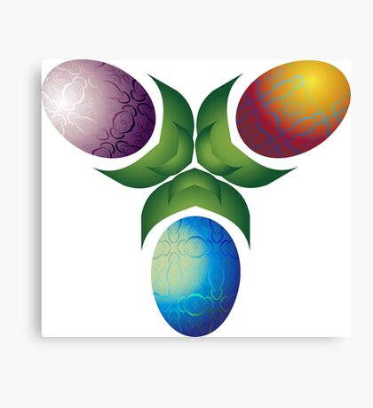 Easter Eggs - Three Canvas Print