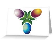 Easter Eggs - Three Greeting Card