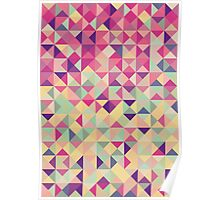 Geometric Triangle Pattern (pink) - Hipster Style Poster