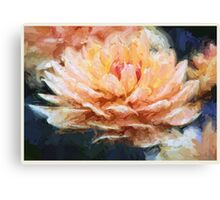 Impressionist Style Water Lily - Lotus - Zen Art - Impressionism Canvas Print