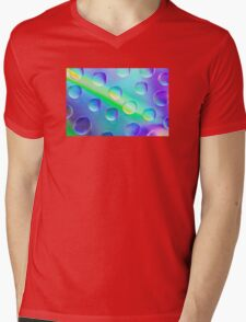 Abstract Psychedelic Drops Mens V-Neck T-Shirt