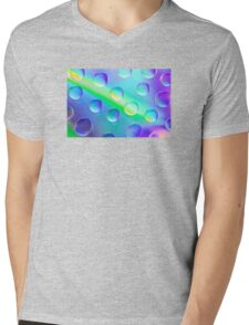 Abstract Psychedelic Drops Mens V-Neck T-Shirt
