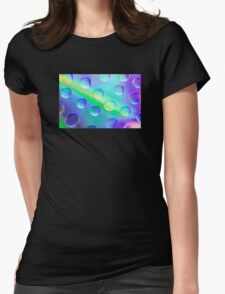 Abstract Psychedelic Drops Womens Fitted T-Shirt