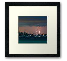 Sydney Harbour storm Framed Print