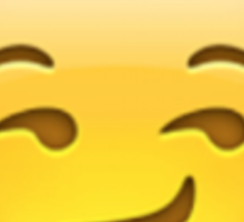 Smirking emoji Sticker