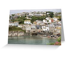 Port Issac in Cornwall in Colour Greeting Card