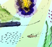 Ocean Depths Colour Sticker