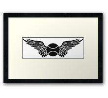 tennis : winged  Framed Print