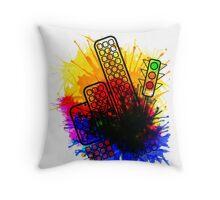 City Splatter Throw Pillow