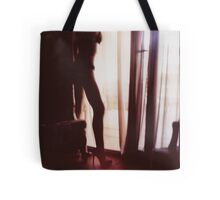 Girl looking out of the window - analog 35mm c41 film RA4 photo Tote Bag