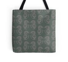 Dancing Dragons - Deep Forest Green Tote Bag