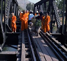 Bridge Over The River Kwai #2 - Thailand by Bev Pascoe
