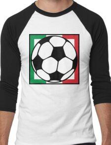 futbol italia square Men's Baseball ¾ T-Shirt