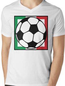 futbol italia square Mens V-Neck T-Shirt