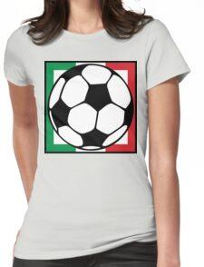 futbol italia square Womens Fitted T-Shirt