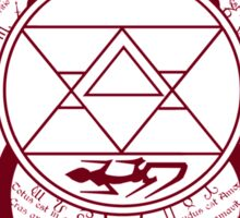 Fullmetal Alchemist Brotherhood Flame Alchemy  Sticker