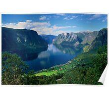 Aurland Fjord Poster
