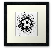 futbol : soccer splatz Framed Print