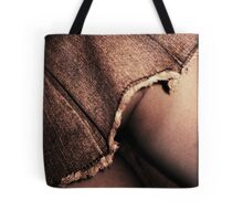 Young lady in short skirt a voyeuristic analog 35mm panoramic analog film photo Tote Bag