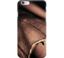 Young lady in short skirt a voyeuristic analog 35mm panoramic analog film photo iPhone Case/Skin