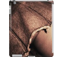 Young lady in short skirt a voyeuristic analog 35mm panoramic analog film photo iPad Case/Skin
