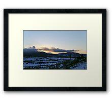 Sunset Over Colorado Framed Print