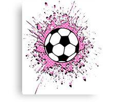 futbol : soccer splatz Canvas Print