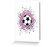 futbol : soccer splatz Greeting Card