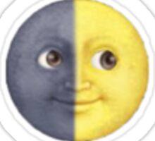moon and sun sticker Sticker