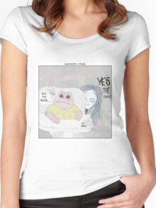 Dinosaurs + Mama Women's Fitted Scoop T-Shirt