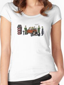 A long time ago in 1943 (far far away....in france) Women's Fitted Scoop T-Shirt