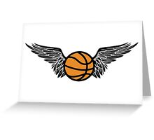basketball : winged Greeting Card