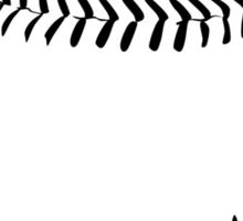 baseball : tribalz Sticker