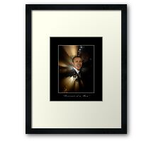"""Portrait of a Man"" Barack Obama Poster and Prints Framed Print"