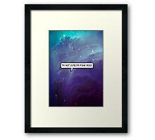 Punk Rock Galaxy Framed Print
