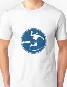 Handball Player Jumping Throwing Ball Icon T-Shirt