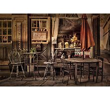 Sidewalk Cafe Photographic Print